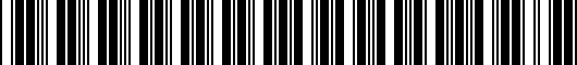 Barcode for 0044442965RP