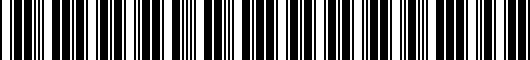 Barcode for 0815048811G1