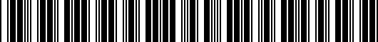 Barcode for 7411035010B0