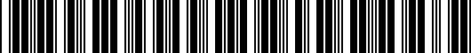 Barcode for PK38942K00TF