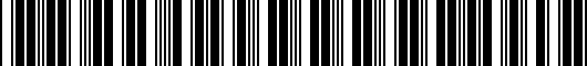 Barcode for PT39800070SL