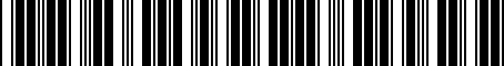 Barcode for PT4270C080
