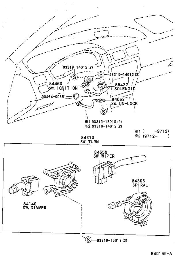 Diagram SWITCH & RELAY & COMPUTER for your Toyota Paseo